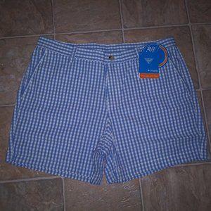 COLUMBIA 36 40 Super Bonehead Blue Gingham Shorts